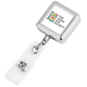Square Metal Badge Reel (Polydome)