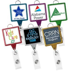 JUMBO Square Glitter Badge Reel (Polydome)